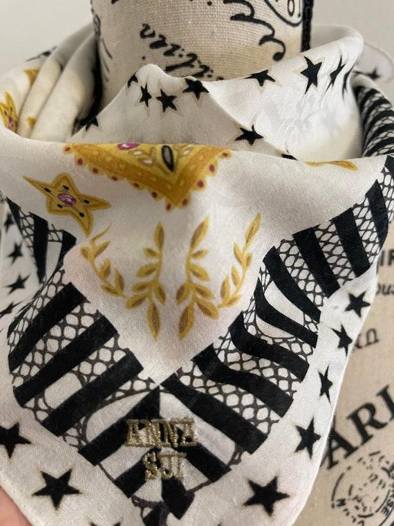 Anna Sui vintage Handkerchief 22 x 22 inches - image 8