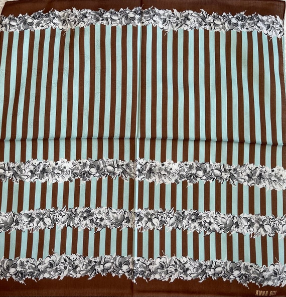 """Anna Sui Vintage Handkerchief Made in Japan 19""""x1… - image 3"""
