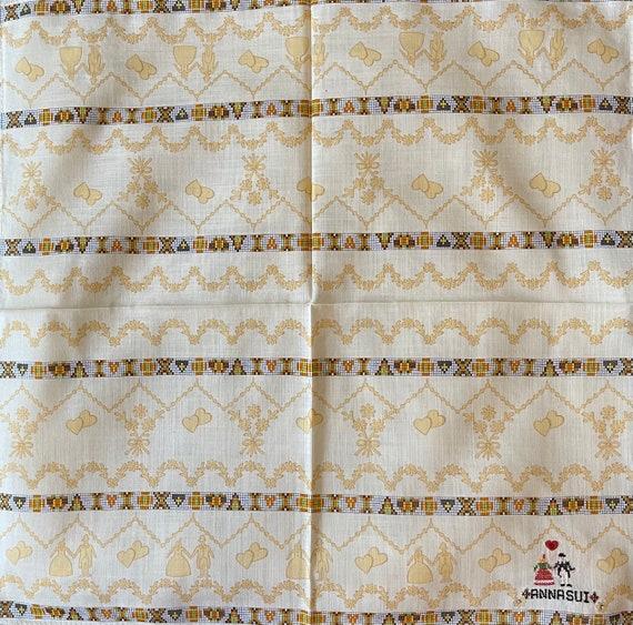 Anna Sui Vintage Handkerchief 19 x 19 inches, Aut… - image 2