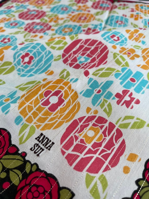 """Anna Sui Vintage Handkerchief Made in Japan 22""""x2… - image 1"""