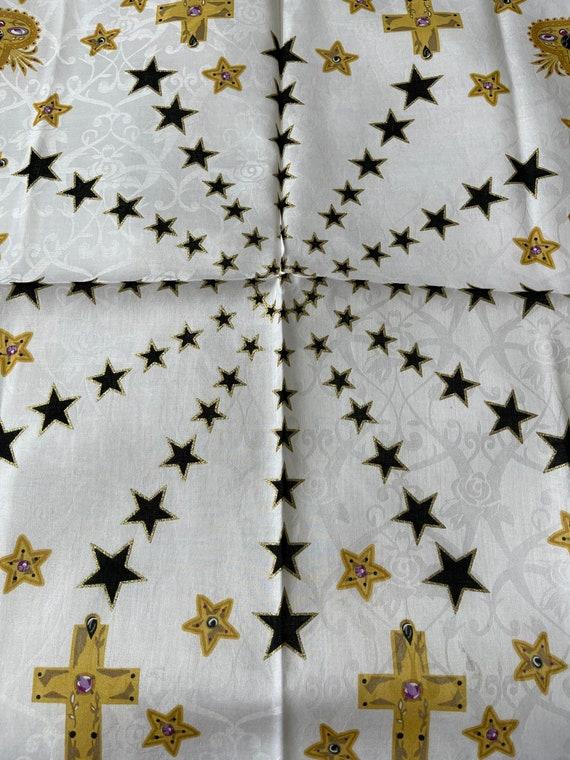 Anna Sui vintage Handkerchief 22 x 22 inches - image 6