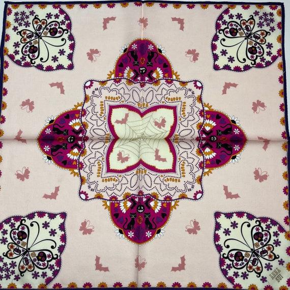Anna sui Vintage handkerchief 19 x 19 inches - image 1