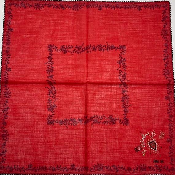 Anna sui Vintage handkerchief 19 x 19 inches - image 4