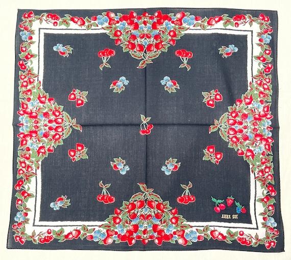 Anna Sui Vintage handkerchief 19 x 20 inches - image 4