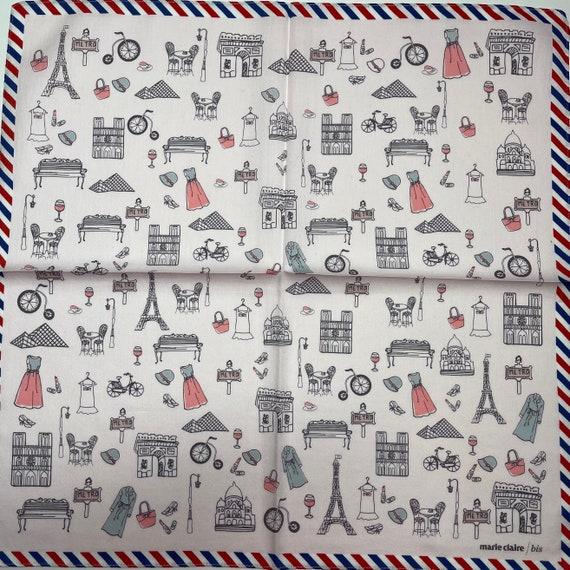 Marie Claire /bis vintage handkerchief 19 x 19 in… - image 1