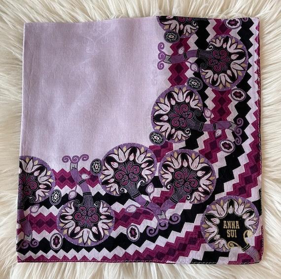 Anna Sui Vintage Handkerchief 22 x 22 inches, Aut… - image 2