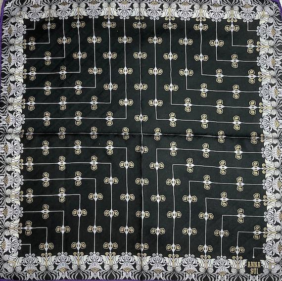 "Anna Sui Vintage Handkerchief 18""x18"" Cotton - image 1"