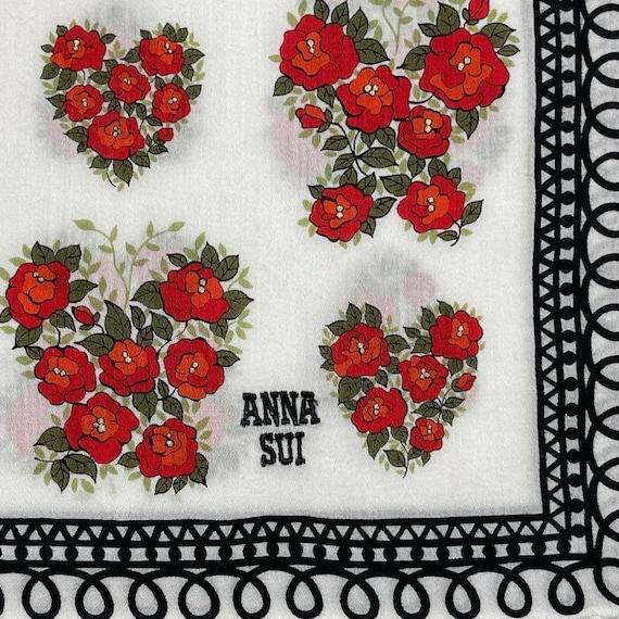 Anna Sui Vintage handkerchief 18 x 18 inches - image 1