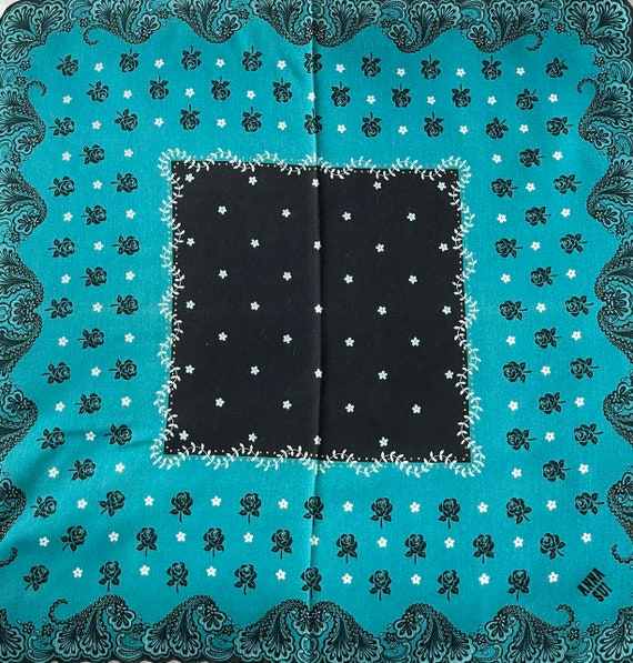 """Anna Sui Vintage Handkerchief Made in Japan 18""""x1… - image 1"""