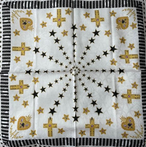 Anna Sui vintage Handkerchief 22 x 22 inches - image 2
