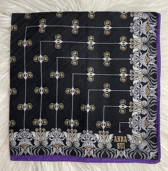 "Anna Sui Vintage Handkerchief 18""x18"" Cotton - image 2"
