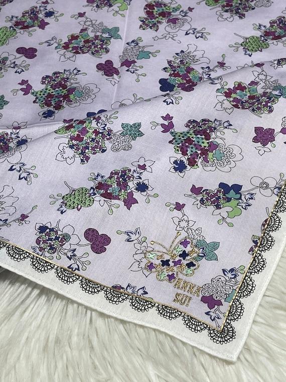 Anna Sui vintage handkerchief 19 x 19 inches