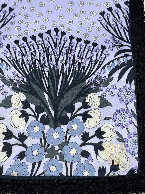 Anna Sui Vintage Handkerchief 23 x 23 inches - image 4