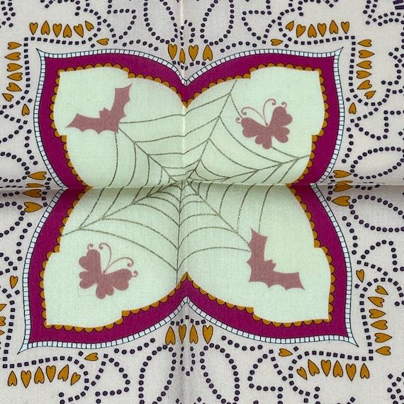 Anna sui Vintage handkerchief 19 x 19 inches - image 3