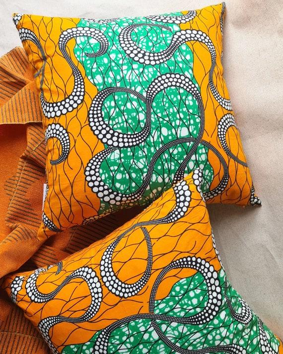 Ade cushion cover, Ankara print