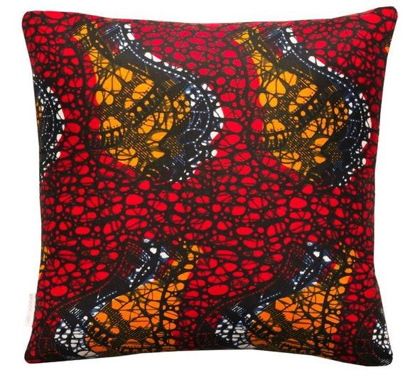 Eno Cushion Cover, Ankara Print Scatter Cushion, Cotton Fabric Multicoloured Print, African Print Pillow, Handmade, Osime Home