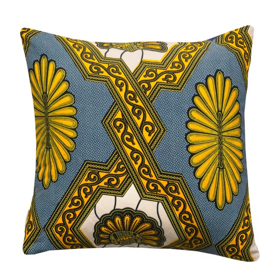 Oba cushion cover, Ankara print
