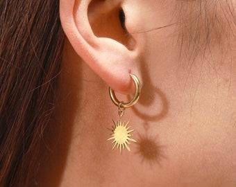 Spiked dangle earrings silverSUN moonSHINE