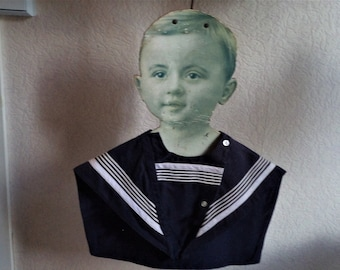 Lovely antique sailor's tunic for children circa 1900 accompanied by these two cuffs, antique, Victorian clothing