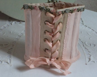 Corset for vintage Jumeau Stener doll, Victorian doll clothes