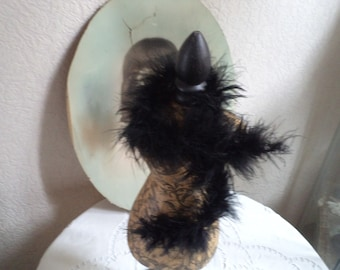 Old feather boa for vintage Jumeau Stener doll, Victorian Doll clothing