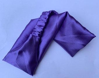 Deep Purple Animal Print Headband /& Plain Deep Purple Headband 2 pc Set