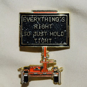Everything/'s Right rainbow metal 1.5 inch LE40 glitter pin