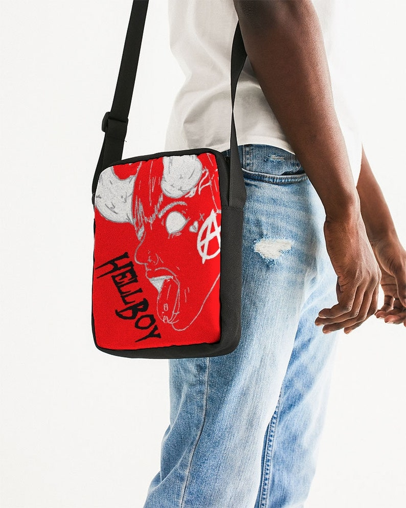 Messenger Pouch HellBoy red