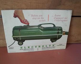 Vintage Electrolux Vacuum Owners Manual Booklet Advertisements ...
