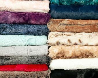 "Shannon Fabrics 10"" x 60"" Luxe Cuddle Minky Fabric Strips"
