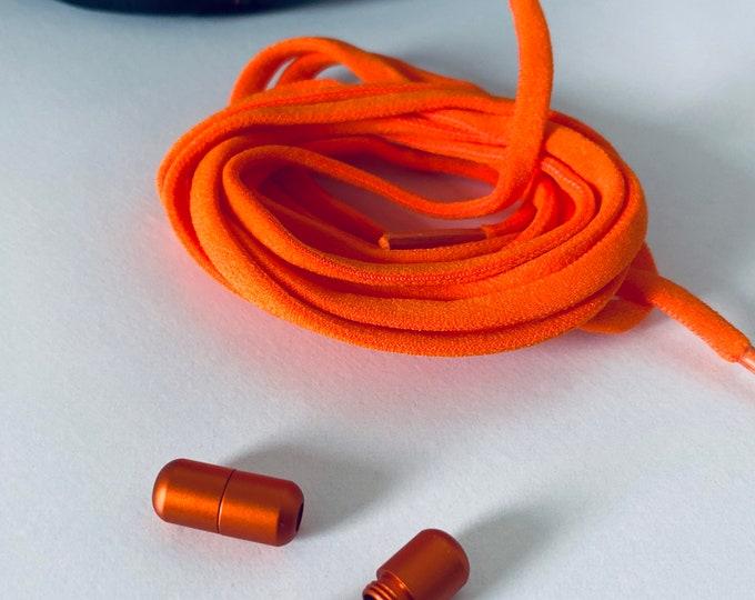 Black Set 2x Tieless Shoelace Caps  Convenient Twist Connect  FREE LACES