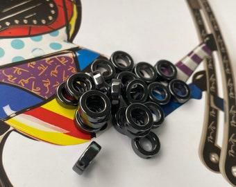O-CUT Hematite Beads 14mm  Spacers Beads Bracelet Accessory  1mm Hole