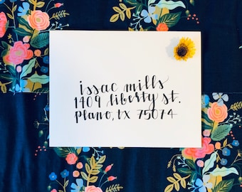 Custom Calligraphy Envelope Addressing - Hard Tip Pen Calligraphy for Weddings, Showers, Birthdays, Events, Christmas, and More
