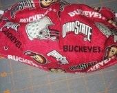 Ohio State Themed Handmade Cotton Face Cover Face Mask MEDIUM Adult Reversible washable