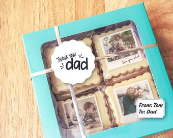 Father's Cookies Gift   Fathers Gift    Gift for dad   Dad cookies   Cookie Gift