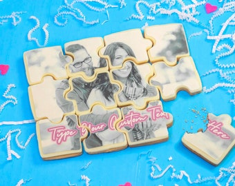 Puzzle Cookie | Proposal Cookie | Valentines Gift | Bridesmaid proposal | Flower girl proposal | marry me cookie | Valentine's Cookie