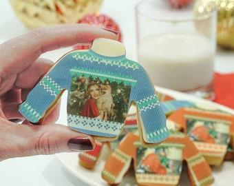 Edible Christmas sweater  | Custom ugly sweater | Edible ugly sweater | Sweater Cookies| Photo Gift| Custom Cookie