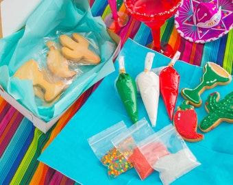 Cinco de Mayo Cookie Decorating Kit| Cinco de Mayo Cookies | DIY Cinco de Mayo Cookie Kit |Cookie Decorating Kit | Zoom Party Favors