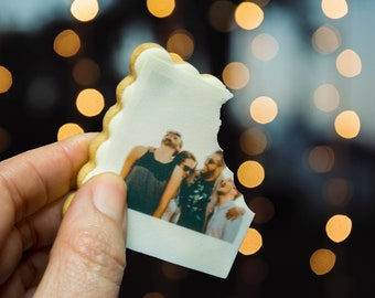 Photo Cookie ONE Dozen | Custom Photo Shortbread Cookie | Photo gift goods | Picture Cookie | Birthday Photo Cookie| Party favor cookies