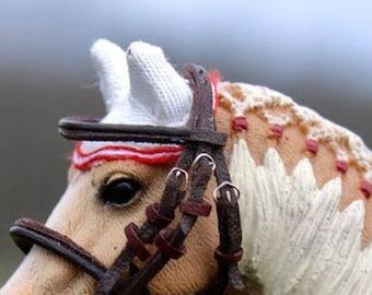 Schleich, Breyer, Ear Bonnet for Model Horses: TEMPLATE PDF