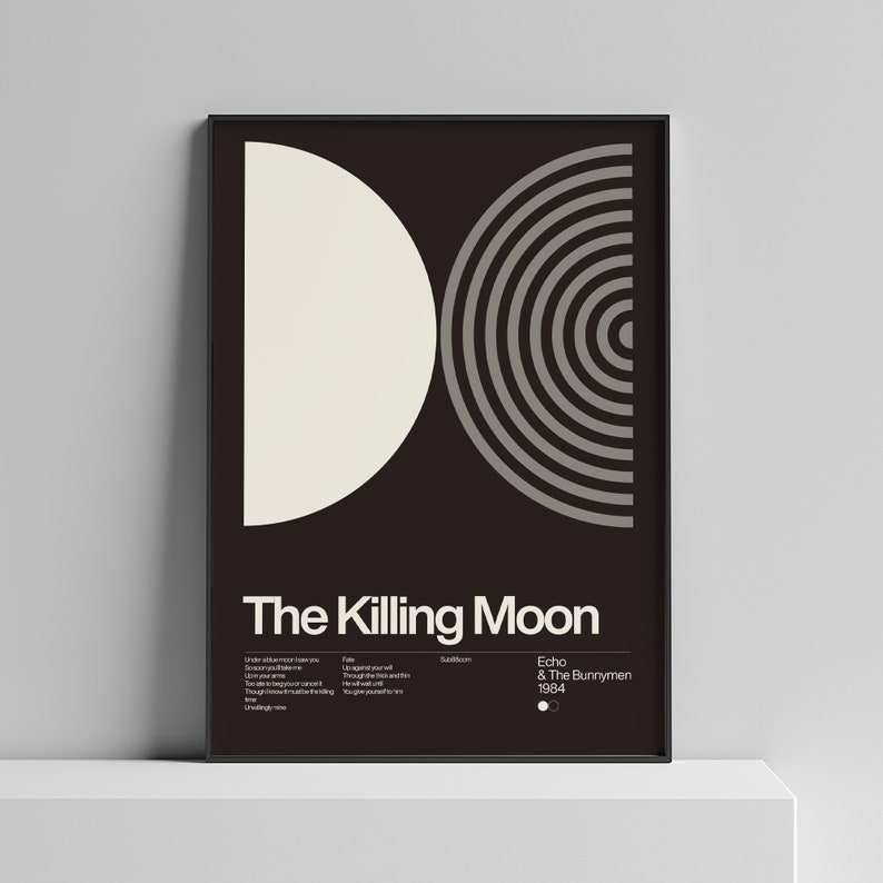 Echo & The Bunnymen  The Killing Moon  1984 New Wave song image 0