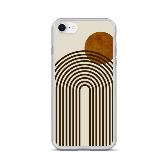 Fall Abstract Terracotta Collage Clear Case For iPhone 12 Mini 11 Pro Max X XR XS 7 8 Plus SE 2020 Aesthetic Autumn Design The Urban Flair