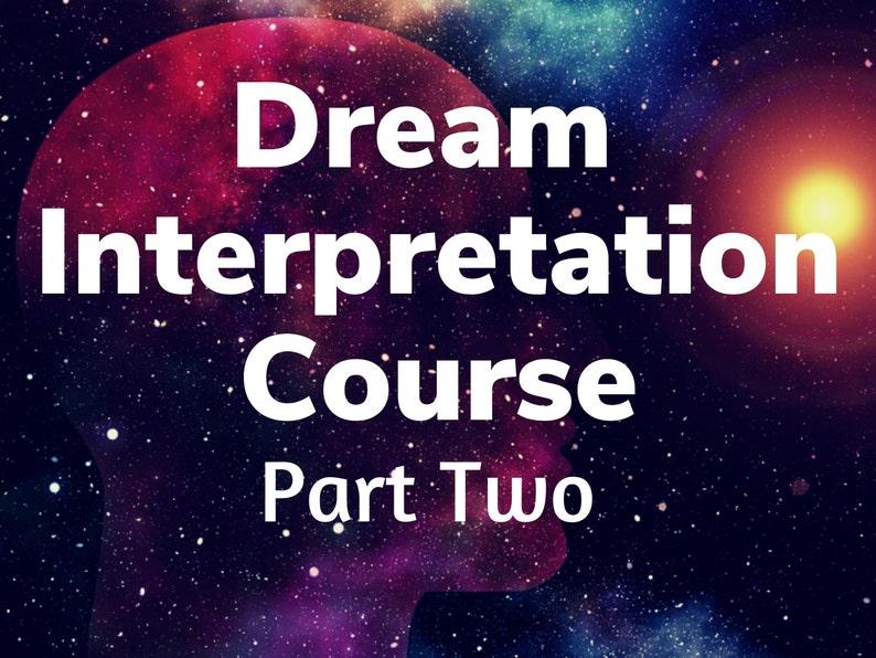 Dream Interpretation Audio Course  Part Two image 0
