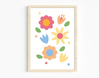Colourful flowers print