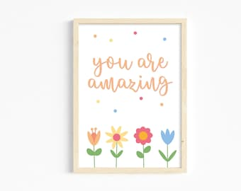 You are amazing A4 print