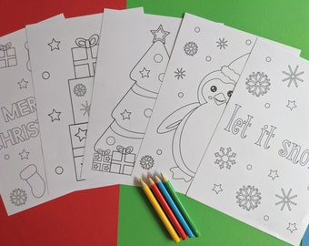 Childrens Christmas Colouring Pack