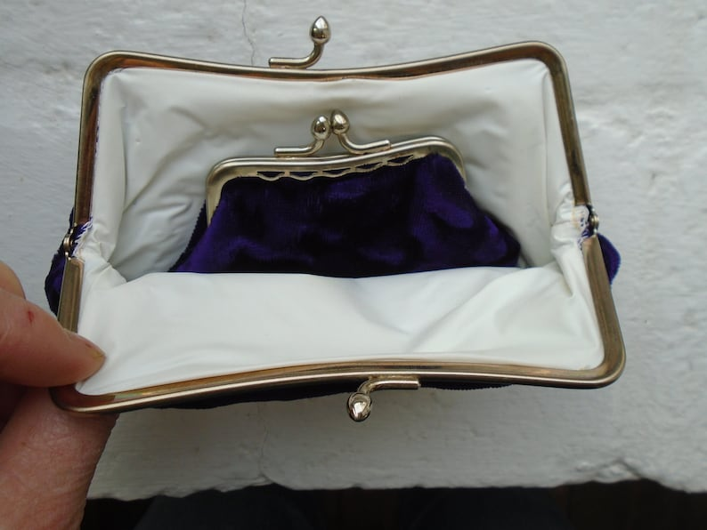 2 x Vintage Evening Bags one with matching purse