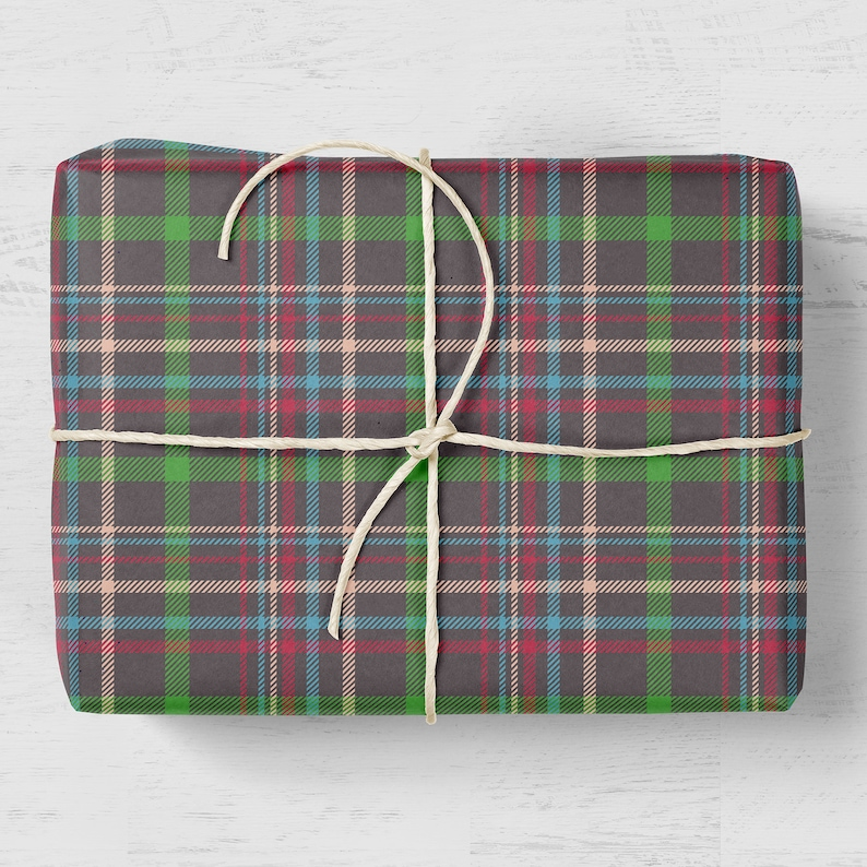 Plaid Gift Wrap Tartan Wrapping Paper Luxury Gift Wrap Plaid Wrapping Paper Birthday Gift Wrap