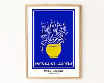 Jardin Majorelle Print / Morocco Art Print / Marrakesh Art Print / Matisse Inspired Art Print / Yves Saint Laurent Art Print / Marrakech Art