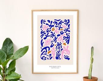 Abstract Shapes Art Print / Leaf Print / Collage Print / Matisse Inspired Print / Minimalist Print